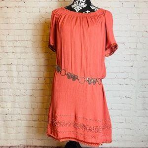 Loft Coral Dress Size Small